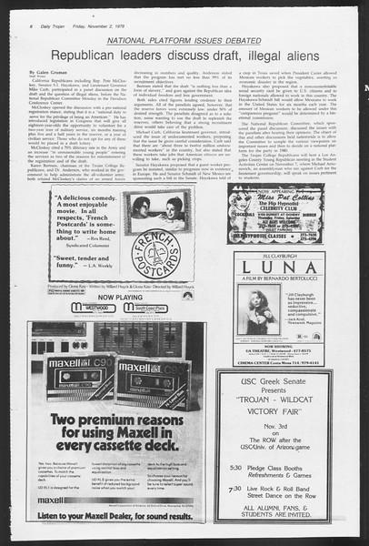 Daily Trojan, Vol. 87, No. 35, November 02, 1979