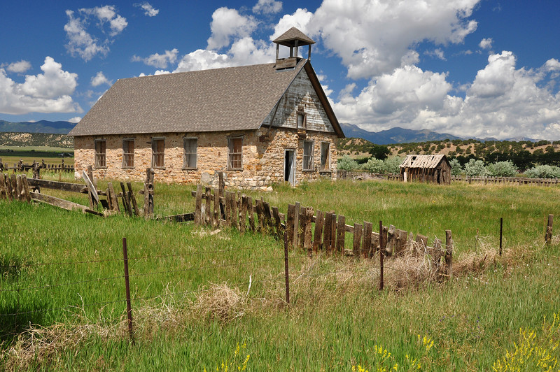 An old school house in Malochite, CO.