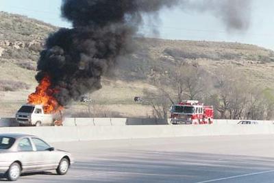 I-25 and Surry Ridge Car Fire
