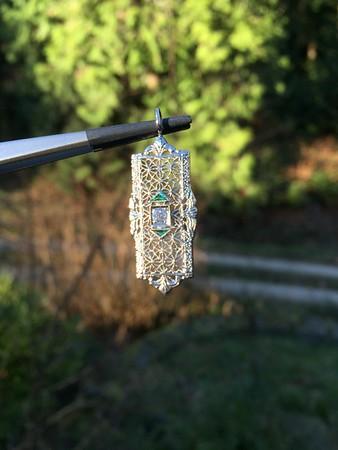 Vintage Filigree Diamond Pendant
