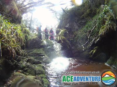 8th April Canyoning, River Findhorn, Moray, Scotland