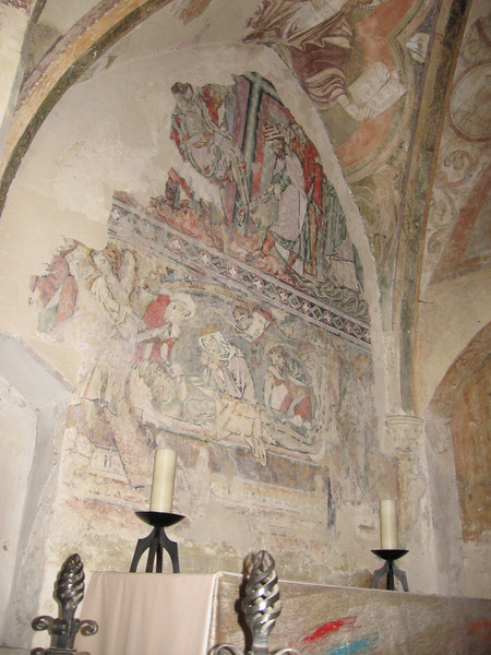 Medieval wall painting, Winchester Cathedral