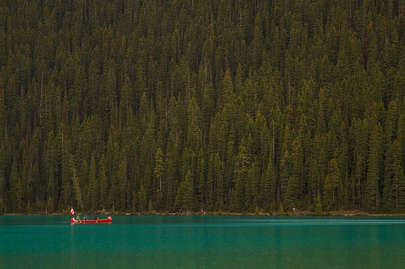 Genevieve Hathaway_Alberta_Lake Louise_canoe and trees.jpg
