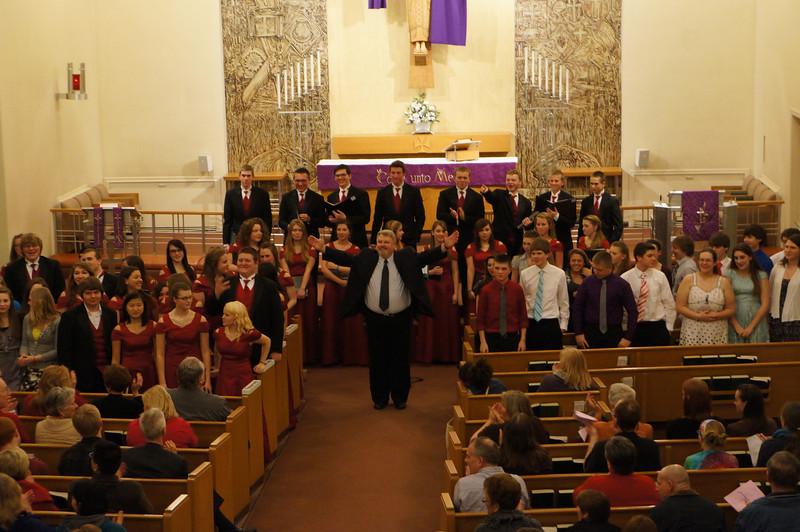 2013 Lutheran West High School Spring Choir Concert performed at Messiah Lutheran Church