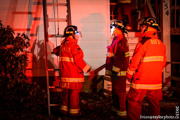 Chimney Fire Cottage Fire, Berwick, March 25, 2013