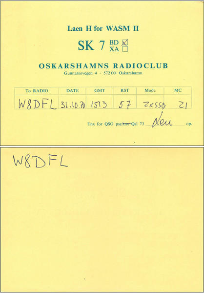 Q8DFL QSL Cards - 5/9/2011