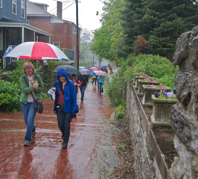 Bridgett & Katie leading the wet folks