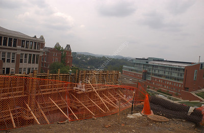 24267 Construction on campus Brooke, Oglebey,falling run road life science building