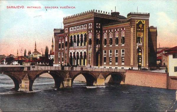 Gradska vijećnica, početkom 20. vijeka.