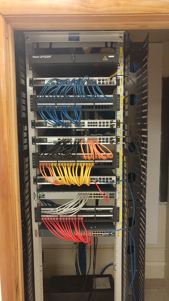 School network rewiring project
