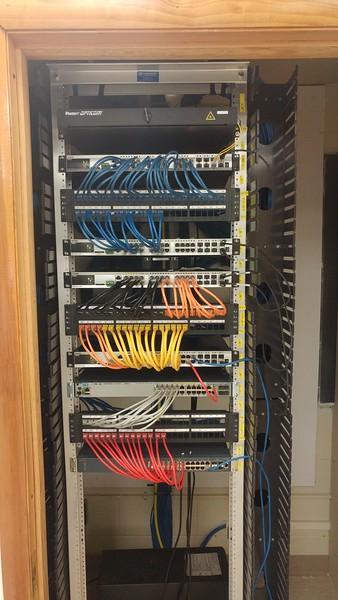 School network rewiring project