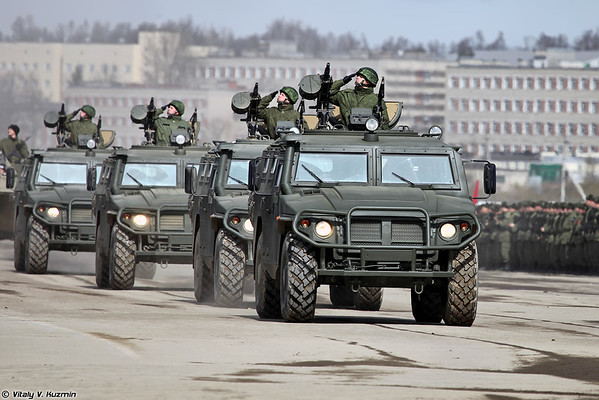 April 9th rehearsal in Alabino of 2014 Victory Day Parade