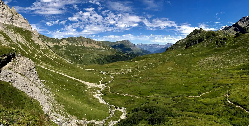 Day 3: Hiked an old Roman road to Col du Bonhomme. Descended into to Les Chapieux.