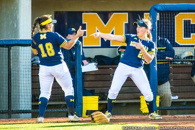 Best of Michigan Softball Vs Michigan State 9-30-15
