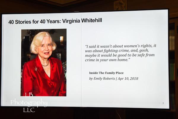 Honoring Ginny Whitehill