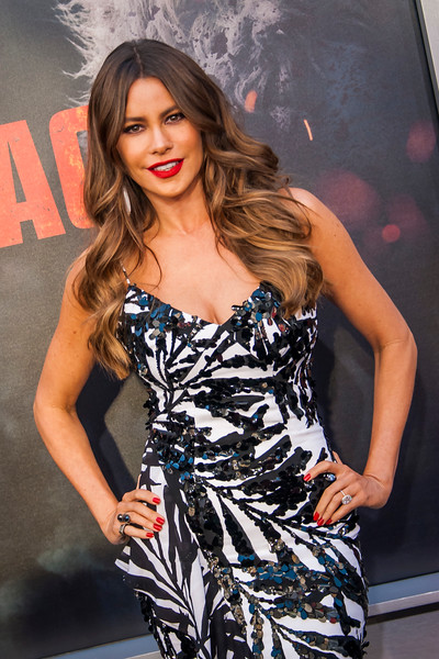 LOS ANGELES, CA - APRIL 04: Sofia Vergara arrives at the Premiere Of Warner Bros. Pictures' 'Rampage' at Microsoft Theater on Wednesday April 4, 2018 in Los Angeles, California. (Photo by Tom Sorensen/Moovieboy Pictures)
