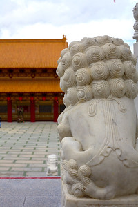 Hsi Lai Temple - Watchful Fu Dog