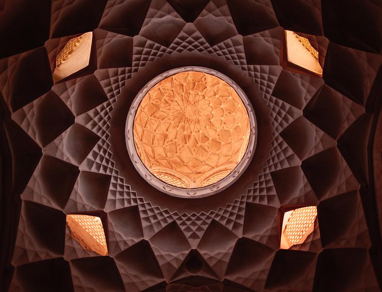 """Harmony""  Skylight in the Ameri House (خانه عامري ها), Kashan, Iran."