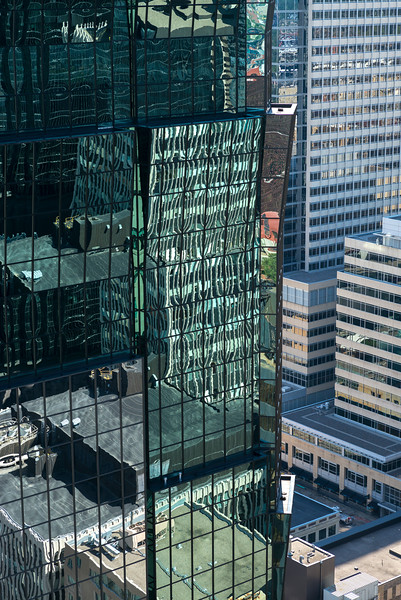 Reflections on AT&T Tower at Downtown Minneapolis, Hennepin County, Minnesota, USA