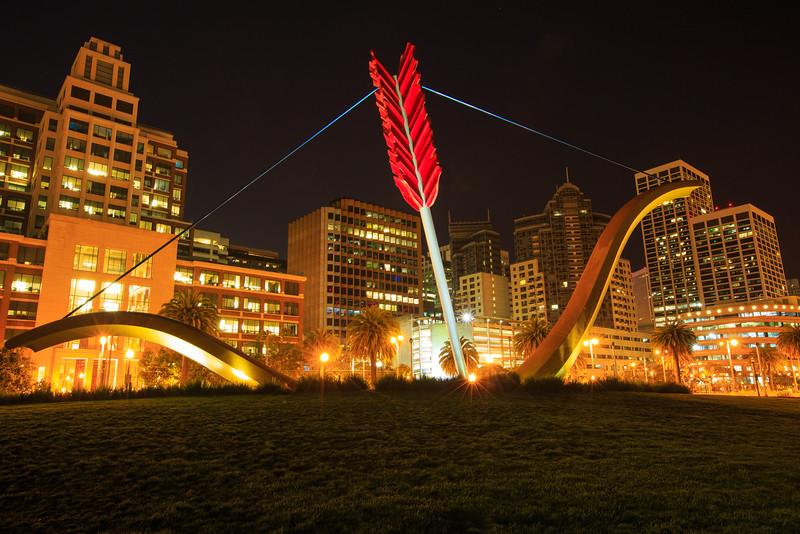 SF night and arrow