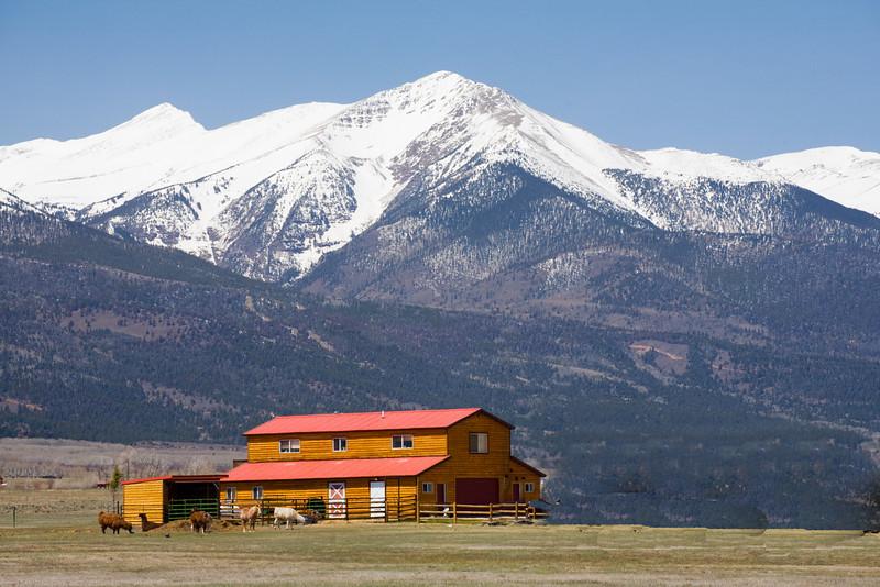 Sangre de Christo mountain range near Westcliffe, Colorado. 2007.