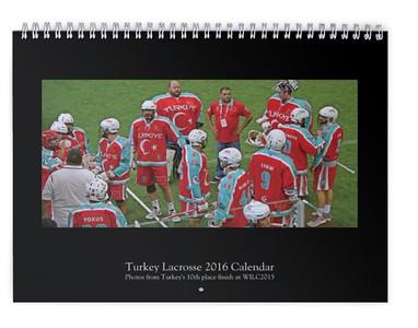 2016 Turkey Lacrosse Calendar (WILC2015)