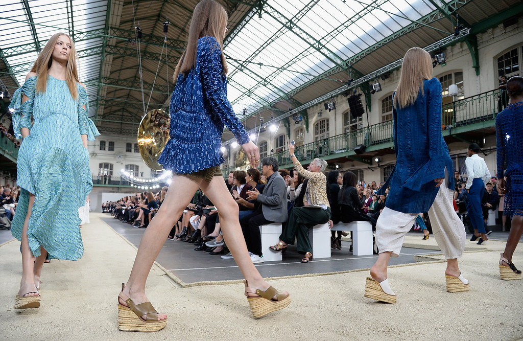 . PARIS, FRANCE - SEPTEMBER 29:  General view of the Chloe show finale as part of the Paris Fashion Week Womenswear Spring/Summer 2014 at Lycee Carnot on September 29, 2013 in Paris, France.  (Photo by Pascal Le Segretain/Getty Images)