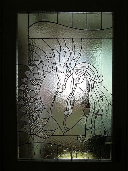 Oh Gosh, I found this stained glass artwork the day after returning home.  I love that it lacks color (!fog!).  Soon I will make it for myself.  Debra...