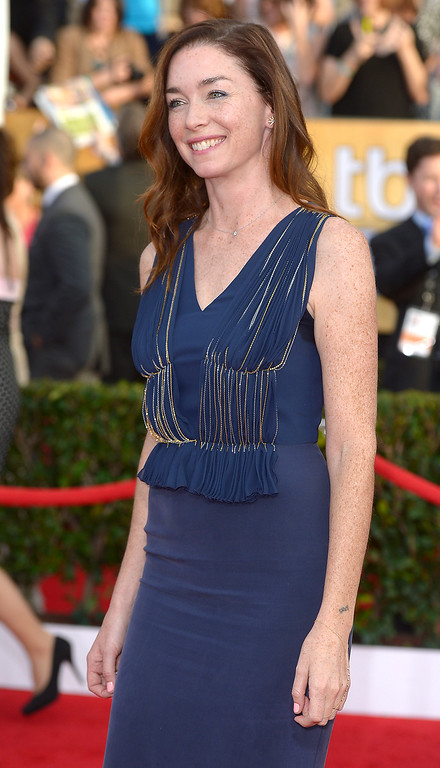 . Julianne Nicholson arrives at the 20th Annual Screen Actors Guild Awards  at the Shrine Auditorium in Los Angeles, California on Saturday January 18, 2014 (Photo by Michael Owen Baker / Los Angeles Daily News)
