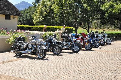 Harleys on tour in South Africa