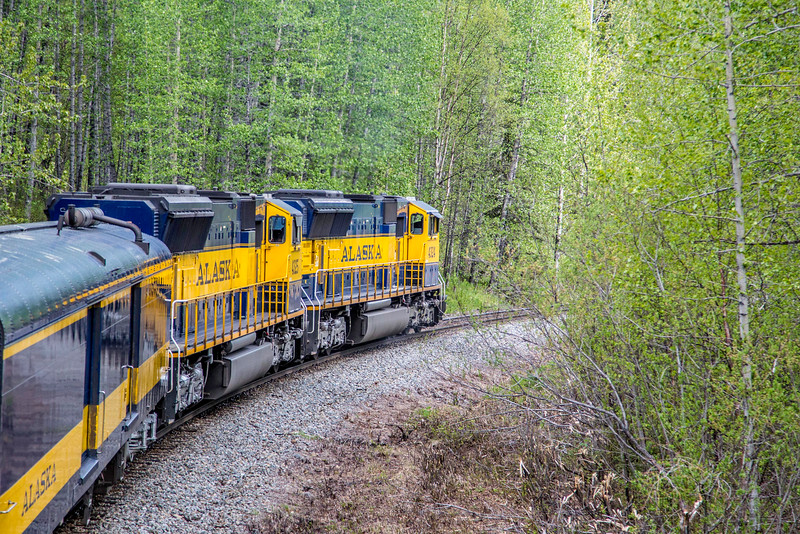 Alaska Railway, southbound from Denali to Anchorage, May 28, 2015