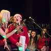 R1601309 Amy Wills and Jenna Sloane lead the finale of the Talent Show in Newry High School