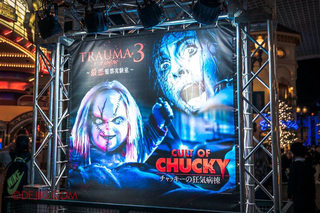 Universal Studios Japan - Halloween Horror Nights / Sign to CULT OF CHUCKY and TRAUMA 3
