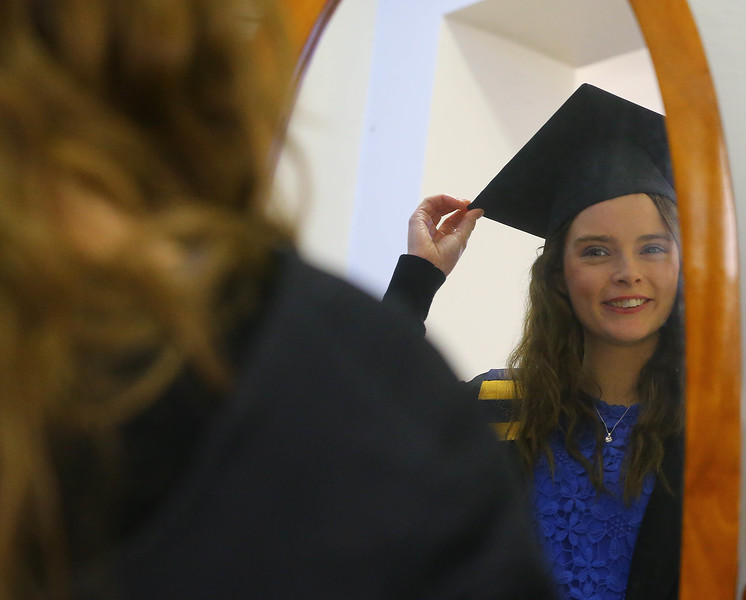 Waterford Institute Of Technology Conferring. Pictured at WIT Waterford Institute Of Technology Conferring are Fiona Cullen from Kilkenny who graduated Diploma in Restaurant Management. Picture: Patrick Browne