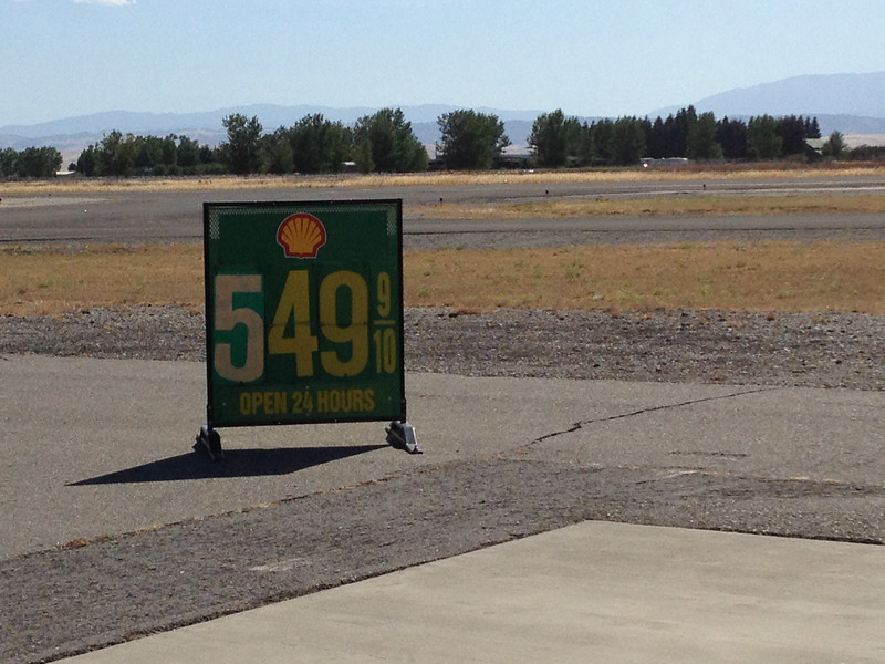 Last fuel stop, Willows, CA.  Sadly, this is now what passes for cheap fuel.
