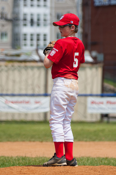 Christopher pitching in the bottom of the 5th inning. The bats of the Nationals were supported by a great defensive outing in a 11-4 win over the Twins. They are now 7-3 for the season. 2012 Arlington Little League Baseball, Majors Division. Nationals vs Twins (13 May 2012) (Image taken by Patrick R. Kane on 13 May 2012 with Canon EOS-1D Mark III at ISO 400, f4.0, 1/3200 sec and 185mm)