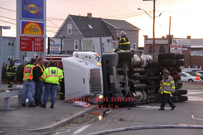 Revere, MA - Tanker Rollover, Broadway Circle, 4-20-09