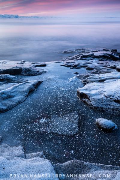 Winter Sunrise at Cascade River State Park