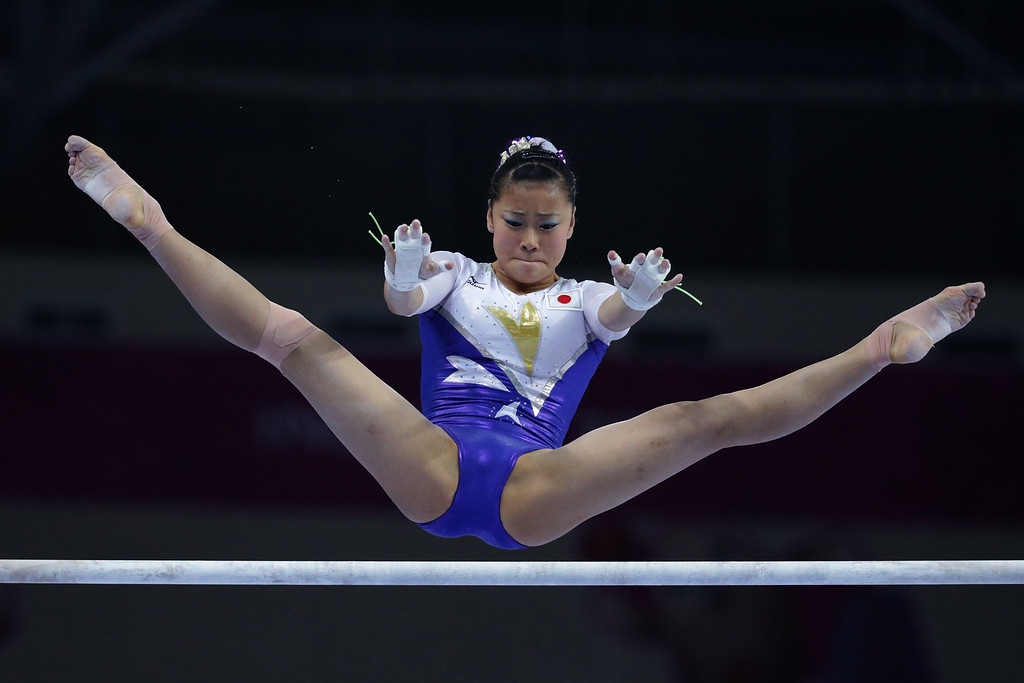 . Yuriko Yamamoto of Japan competes in the Women\'s Induvidual All-Around Final during the 2014 Asian Games at Namdong Gymnasium on September 23, 2014 in Incheon, South Korea.  (Photo by Chung Sung-Jun/Getty Images)