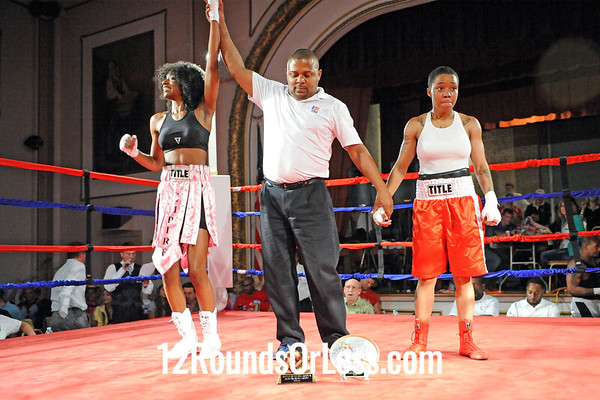 Bout 7 Ahara Archie, Empire BC, Cleveland -vs- Tionda Hite, Pounding Out Fitness, Cleveland, Women's Bout, Novice, 119 lbs
