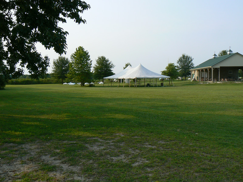 During our Annual and Junior regattas we provide extra shade for our participants.  The pavilion has picnic tables, and  men's and women's restrooms with showers.