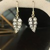 1.85ctw Victorian Leaf Component Earrings 7