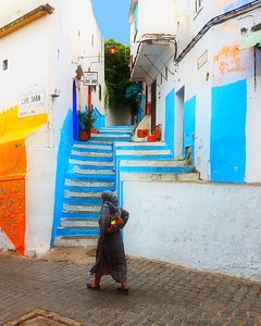 On the way to the market in Tangier