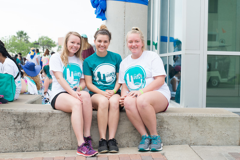 Sydney Baker, Ashley Zamzow and Corinne Pukys relaxing before going out into the community for The Big Event.