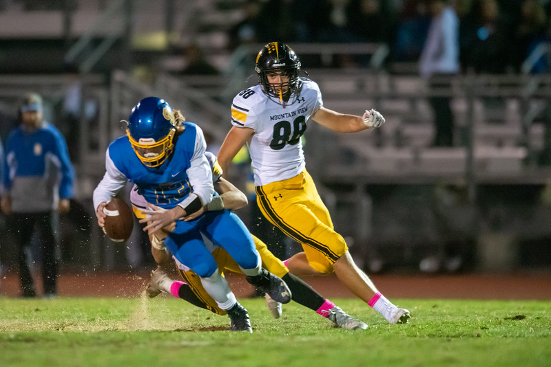 Taken during a High School Football game between the Santa Clara Bruins and Mountain View Spartans on 10/18/2019