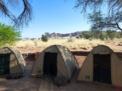 Review Wild Dog Safari 2 week tour Namibia: tents