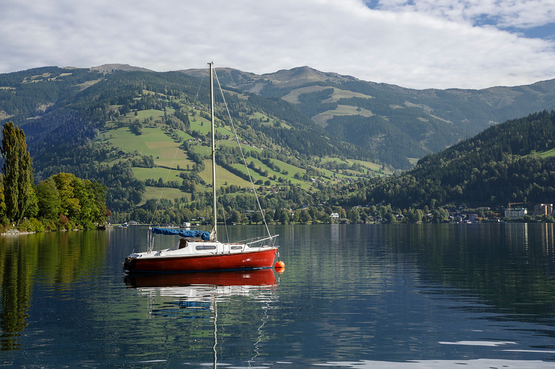 A Boat On The Lake, Zell Am See, Austria