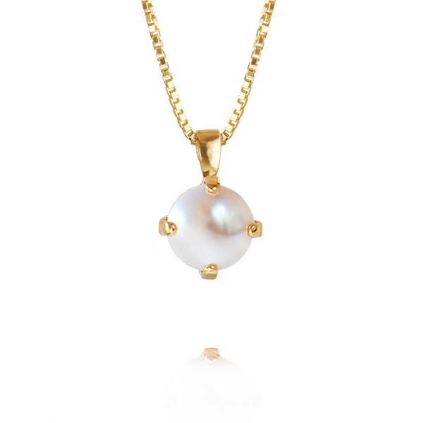 Classic Petite Necklace / Pearl Gold