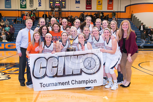 Wheaton College Women's Basketball vs Illinois Wesleyan (CCIW Tournament Championship: 66-62), February 25, 2017