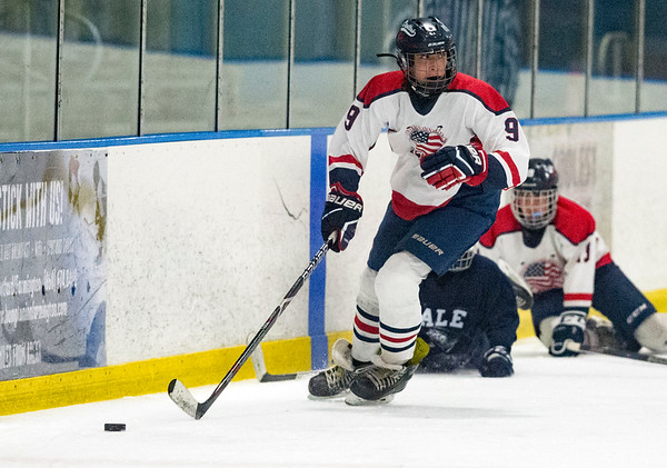 07/24/19 Wesley Bunnell | Staff The CT Capitals defeated Whitie Bensen Selects 4-2 in 14U Nutmeg Games hockey at the Newington Arena. Tyler Poulin (9).